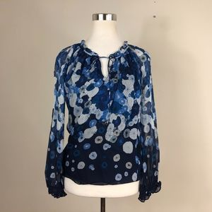 Diane Von Furstenburg Blue Silk Top